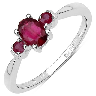 Olivia Leone Sterling Silver 5/8ct Ruby Ring