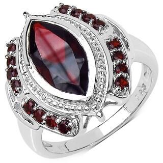 Malaika Sterling Silver 4 1/10ct Garnet Ring