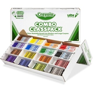 Crayola Large Size Crayons and Washable Marker Classpack - 1/KT