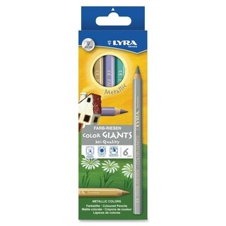 Dixon Color Giants Metallic Colored Pencils - 6/ST