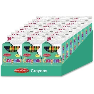 CLI Creative Arts 64 Bright Crayon Box - 24/DS