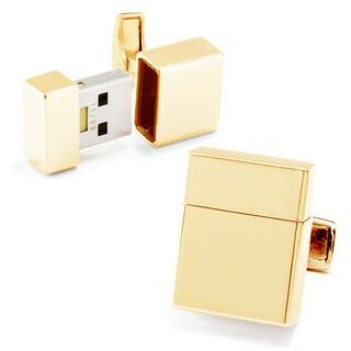Goldplated 2GB USB Flash Drive Cufflinks