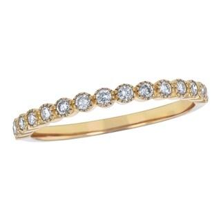 10k White Gold 1/4ct TDW Diamond Vintage Inspired Anniversary Ring - White H-I