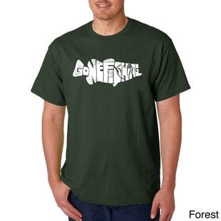 Men's Los Angeles Pop Art Gone Fishin' - Bass T-shirt