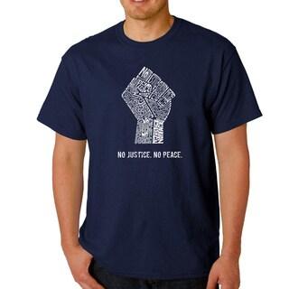 Men's Los Angeles Pop Art No Justice, No Peace T-shirt