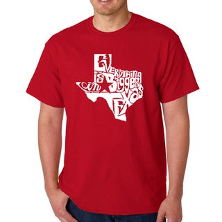 Men's Los Angeles Pop Art Everything Is Bigger in Texas T-shirt