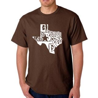 Men's Los Angeles Pop Art Everything Is Bigger in Texas T-shirt