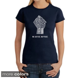 LA Pop Art Women's No Justice, No Peace T-shirt