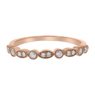 10k Gold 1 5ct Tdw Diamond Stackable Milgrain Band More Options Available