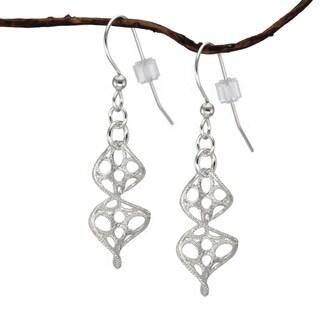 Jewelry by Dawn Sterling Silver Spiral Dangle Earrings