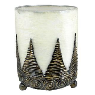 Handmade Hurricane Lantern Candle Holder Conical (Indonesia)