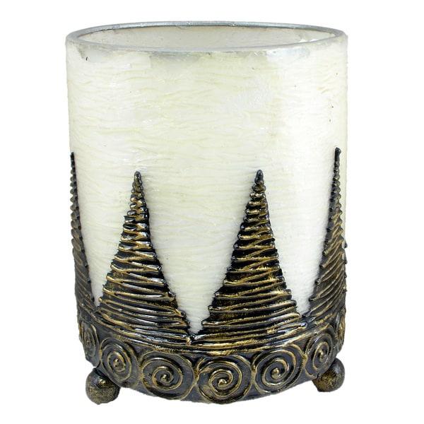 Hurricane Lantern Candleholder Handmade Conical (Indonesia)