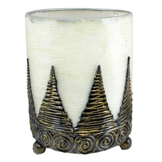 Hurricane Lantern Candleholder Hand-textured Conical (Indonesia)