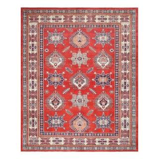 Herat Oriental Afghan Hand-knotted Tribal Vegetable Dye Super Kazak Wool Rug (8' x 10')