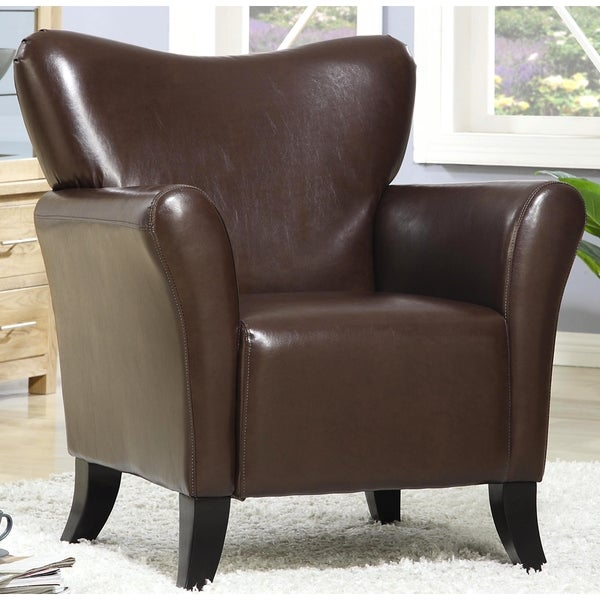 Shop contemporary living room brown upholstered accent - Modern upholstered living room chairs ...
