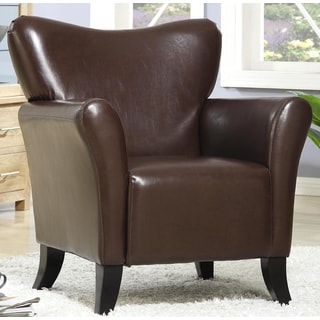 Contemporary Living Room Brown Upholstered Accent Chair