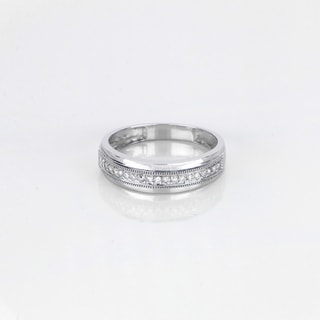 De Couer 10k White Gold 1/4ct TDW Men's Wedding Band