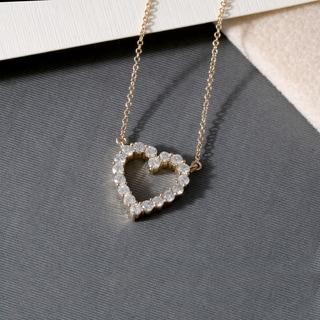 De Couer 14k Gold 1/2ct TDW Diamond Heart Necklace (H-I, I2)