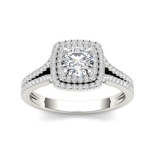 De Couer 14k Gold 1 1/4ct TDW Diamond Engagement Ring (H-I, I2)