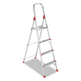Louisville #566 Four-Step Folding Aluminum Euro Platform Ladder