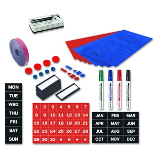 MasterVision Blue/Red Magnetic Board Accessory Kit