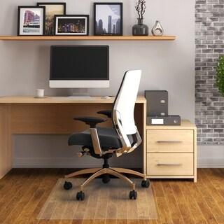 """Cleartex Advantagemat PVC Rectangular Chair Mat for Hard Floor Size 48"""" x 118"""""""