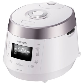 Cuckoo CRP-P1009S White 10-Cup Electric Pressure Rice Cooker, 120v