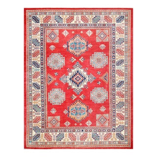 Herat Oriental Afghan Hand-knotted Tribal Vegetable Dye Super Kazak Wool Rug (8'2 x 10'6)