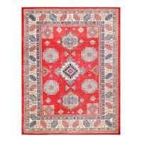 Herat Oriental Afghan Hand-knotted Tribal Vegetable Dye Super Kazak Wool Rug (8'2 x 10'6)