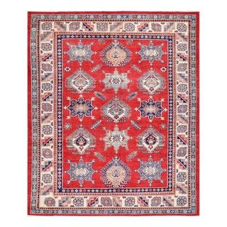 Herat Oriental Afghan Hand-knotted Tribal Vegetable Dye Super Kazak Wool Rug (8'1 x 9'8)
