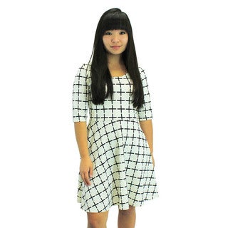 Relished Women's Check on Me White Dress