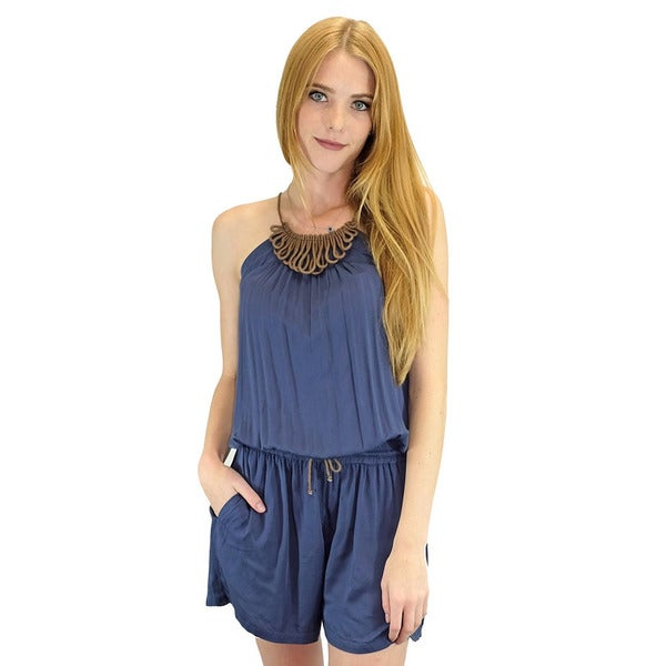 Shop Relished Women s Capucine Navy Short Playsuit - Free Shipping ... f423791ae3