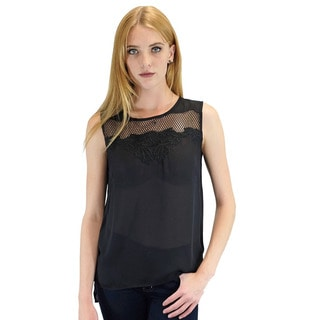 Relished Women's Olivia Embroidered Black Blouse