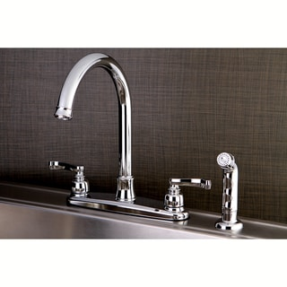 Link to French Chrome Kitchen Faucet with Side Sprayer Similar Items in Faucets