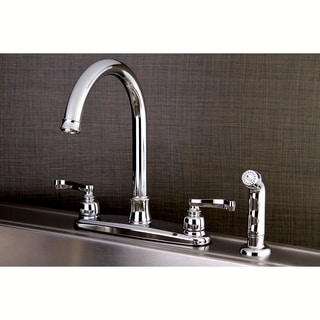 French Chrome Kitchen Faucet with Side Sprayer