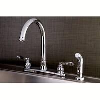 Designer Chrome Kitchen Faucet with Side Sprayer