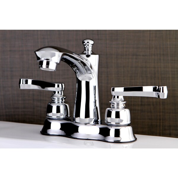 Shop French Handles Chrome 4 Inch Center Bathroom Faucet Free Shipping Today