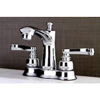 French Handles Chrome 4-inch Center Bathroom Faucet