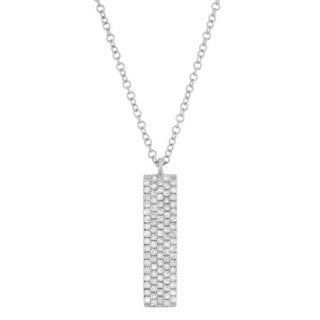Sterling Silver 1/4ct TDW Diamond 5-row Flat Stick Fashion Necklace (G-H, I1-I2)