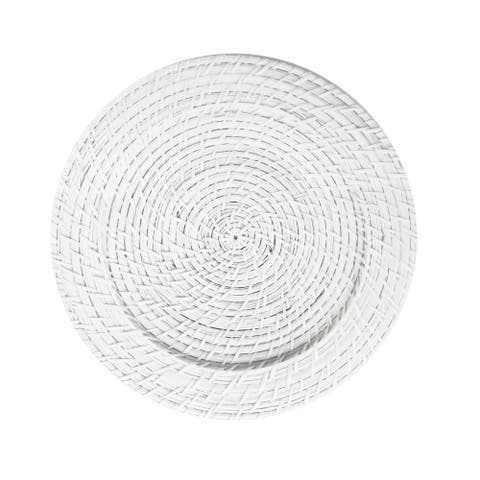 White Rattan Chargers (Set of 4)