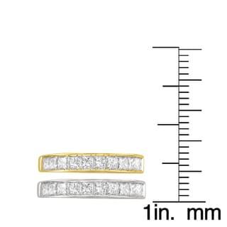 Montebello 14k Gold 1ct TDW Princess-cut Diamond Channel Wedding Band (I-J, VS1-VS2)