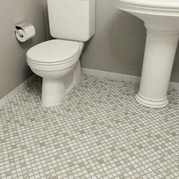 Somertile scholar grey porcelain mosaic for 10 inch floor tiles