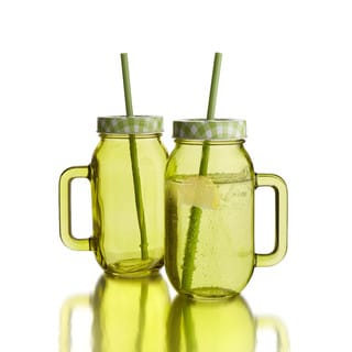 Colored Jars Mugs (Set of 2)