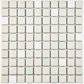 SomerTile 11.75x11.75-inch Scholar Pistachio Porcelain Mosaic Floor and Wall Tile (Case of 10)