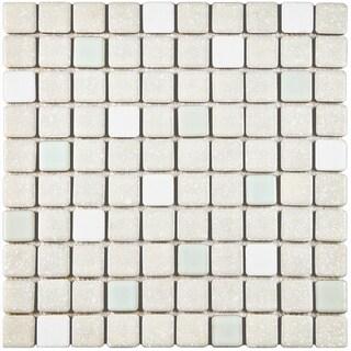 SomerTile 11.75x11.75-inch Scholar Pistachio Porcelain Mosaic Floor and Wall Tile (10 tiles/9.79 sqft.)