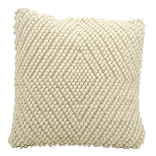 Mina Victory Lifestyle Heavy Loop Diamond Ivory Throw Pillow (20-inch x 20-inch) by Nourison