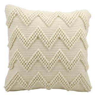 Mina Victory Lifestyle Large Chevron Ivory Throw Pillow (20-inch x 20-inch) by Nourison