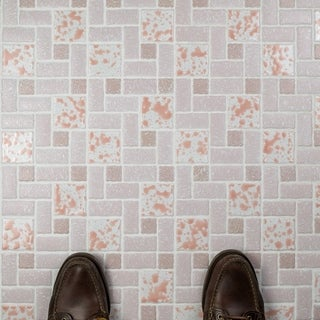 SomerTile 11.75x11.75-inch Collegiate Pink Porcelain Mosaic Floor and Wall Tile (Case of 10)