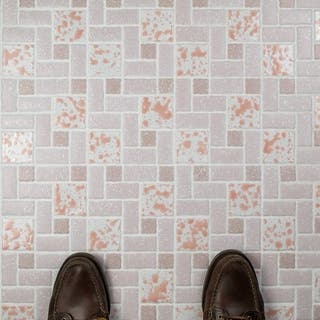 Somertile 11 75x11 75 Inch Collegiate Pink Porcelain Mosaic Floor And Wall Tile