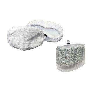 Replacement Calcium Water Filter & Mop Pad Kit (2pk), Washable, Fits Bissell Steam Mops, Compatible w/ 218-5600, 32526 & More
